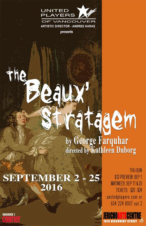 a review of the play the beaux stratagem Villanova's celebrated theatre department has brought a unique collaboration to  their vasey hall stage the beaux stratagem was written.